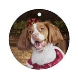 Holiday Brittany Ornament