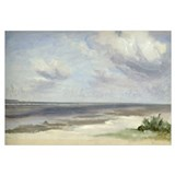 A Beach on the Baltic Sea at Laboe, 1842 (w/c on p