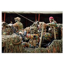 A recce or scout team of the Belgian Army in actio