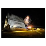 Fireworks explode over the Air Force Academy Cadet