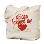 Kaiden Lassoed My Heart Tote Bag