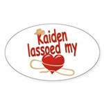 Kaiden Lassoed My Heart Sticker (Oval)