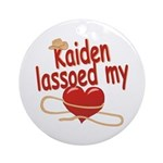 Kaiden Lassoed My Heart Ornament (Round)