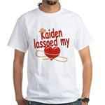 Kaiden Lassoed My Heart White T-Shirt