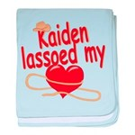 Kaiden Lassoed My Heart baby blanket