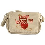 Kaiden Lassoed My Heart Messenger Bag