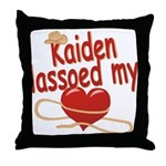 Kaiden Lassoed My Heart Throw Pillow