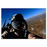 US Air Force Aerial Combat Photographer watches fo