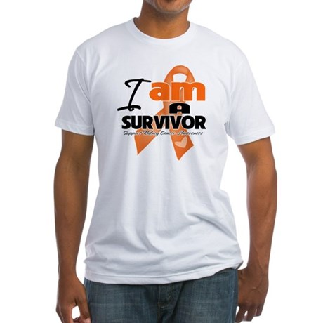 Survivor Kidney Cancer Fitted T-Shirt