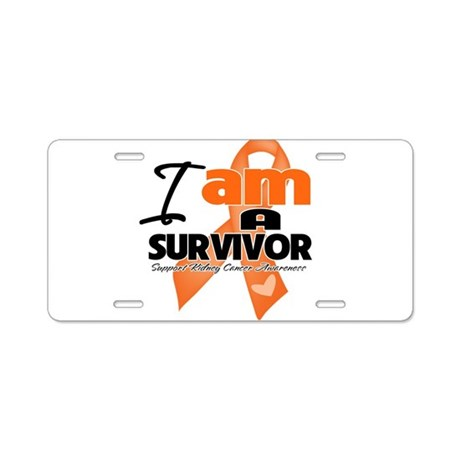 Survivor Kidney Cancer Aluminum License Plate