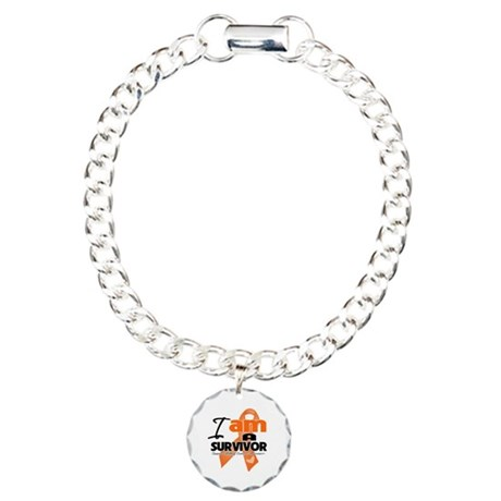 Survivor Kidney Cancer Charm Bracelet, One Charm