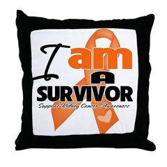 Survivor Kidney Cancer Throw Pillow