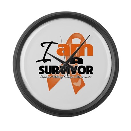 Survivor Kidney Cancer Large Wall Clock