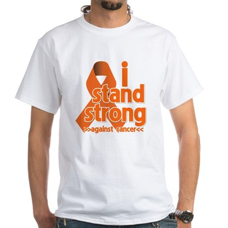 Stand Strong Kidney Cancer White T-Shirt