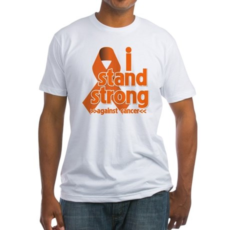 Stand Strong Kidney Cancer Fitted T-Shirt