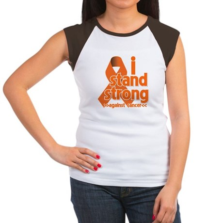 Stand Strong Kidney Cancer Women's Cap Sleeve T-Sh