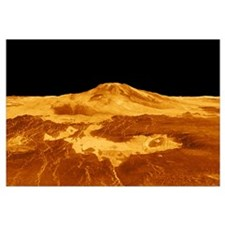 3D Perspective View of Maat Mons on Venus