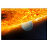 An artists impression of a Jupitersize extrasolar