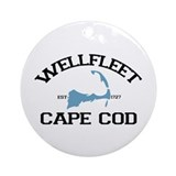 "Wellfleet MA ""Varsity"" Design. Ornament (Round)"