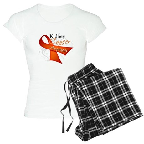 Kidney Cancer Awareness Women's Light Pajamas