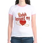 Kodah Lassoed My Heart Jr. Ringer T-Shirt