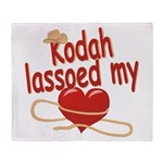 Kodah Lassoed My Heart Throw Blanket