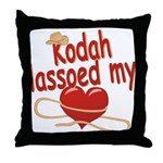 Kodah Lassoed My Heart Throw Pillow