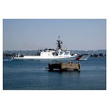 USCGC Bertholf underway in San Diego Bay Californi