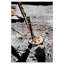 A closeup view of the Apollo 16 Cosmic Ray Detecto