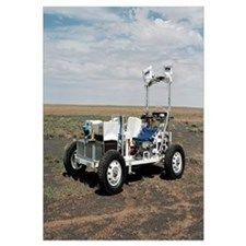 View of a 1G Lunar Rover Vehicle