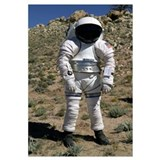 An astronaut equipped with a MarkIII suit takes a