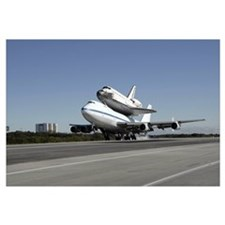 Space Shuttle Endeavour mounted on a modified Boei
