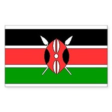 Kenya Kenyan Blank Flag Rectangle Decal