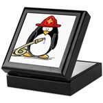 Fireman penguin Keepsake Box