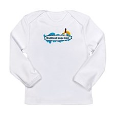 "Wellfleet MA ""Surf"" Design. Long Sleeve Infant T-S"