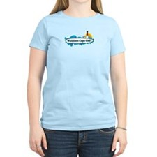 "Wellfleet MA ""Surf"" Design. T-Shirt"