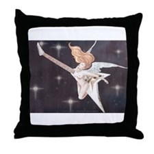 Rock Angel Flying V Throw Pillow