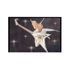 Rock Angel Flying V Rectangle Magnet (10 pack)