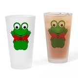 Leo Cartoon Frog Drinking Glass