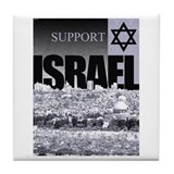 Support Israel Tile Coaster