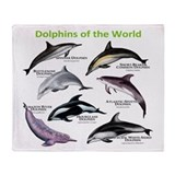 Dolphins of the World Throw Blanket