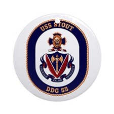 USS Stout DDG 55 Ornament (Round)