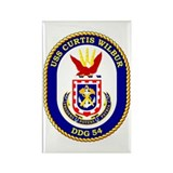 USS Curtis Wilbur DDG 54 Rectangle Magnet