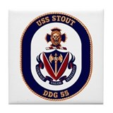 USS Stout DDG 55 Tile Coaster