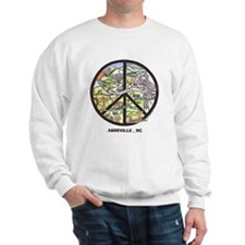 Super Groovy Sweatshirt Peace Asheville Art