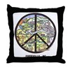 Super Groovy Asheville , Nc Peace Art Throw Pillow