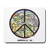 Peace Asheville Mousepad