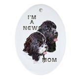 NEWF MOM Oval Ornament