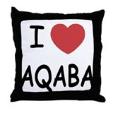 I heart aqaba Throw Pillow