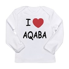 I heart aqaba Long Sleeve Infant T-Shirt